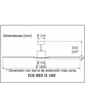 Esquema ventilador de techo CasaFan 922524 Eco Neo II 180 aspas reversibles