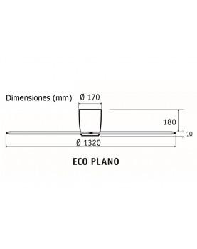Esquema ventilador de techo CasaFan Eco plano motor bajo consumo.