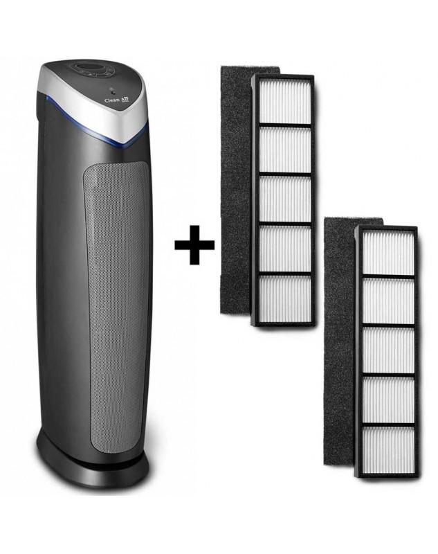 Purificador de aire HEPA Clean Air Optima CA-508 hasta 60 m2 más dos set de filtros