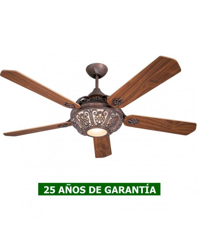Ventilador de techo vintage con luz CasaFan 9513287 SANTA PEPEO 132 cm