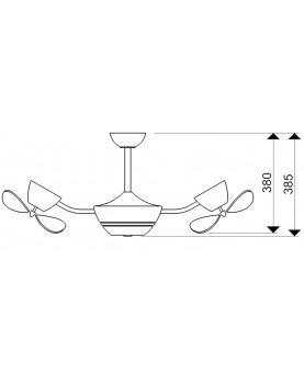 Esquema ventilador de techo con luz AireRyder FN41132 eFan - bajo consumo