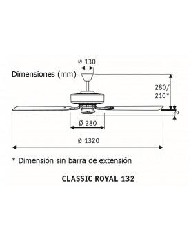 esquema del Ventilador de techo classic royal 132