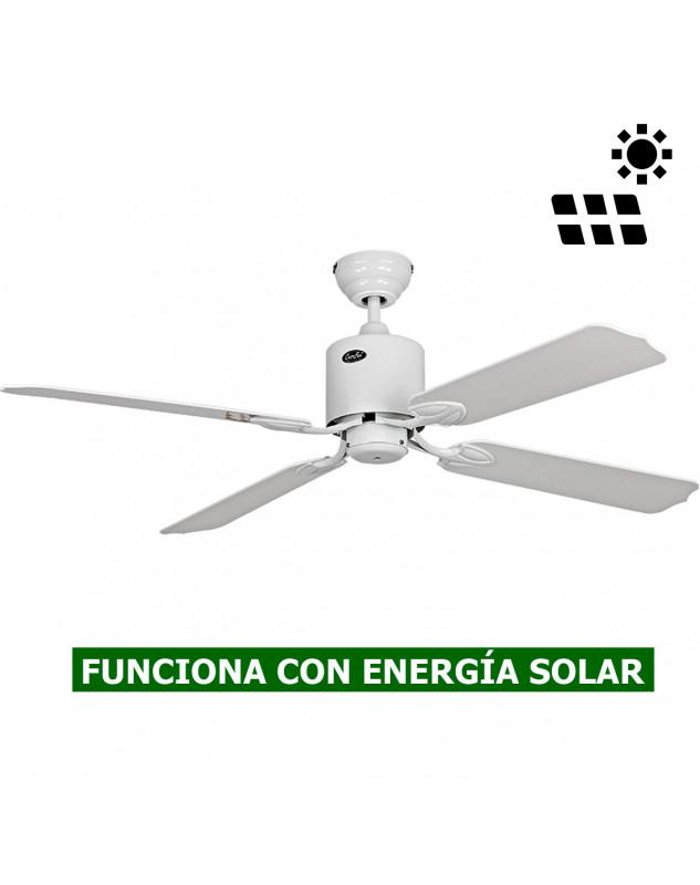 ventilador de techo con energía solar