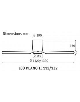 ventilador para techos bajos esquema 16cm de las aspas al techo