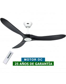 ventilador techo motor blanco y aspas negras  315229 ECO GENUINO 152