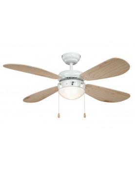 Ventilador de techo con luz AireRyder FN43315 CLASSIC pino blanco