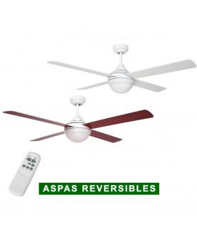ventilador de techo blanco con aspas reversibles