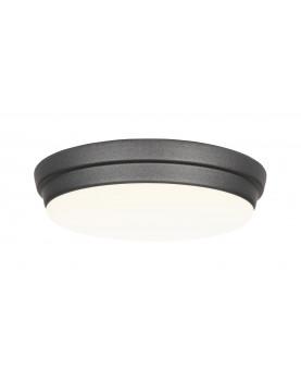 Luz para ventiladores de techos bajo Eco Plano II negro