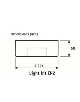 Esquema kit de luz CasaFan EN2 BN 2663 para ventiladores de techo
