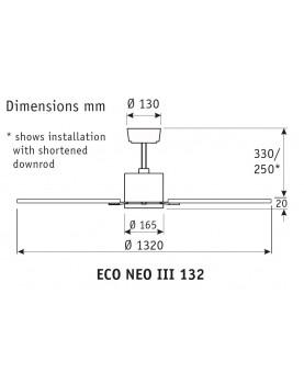 esquema del ventilador de techo 103cm ECO NEO III