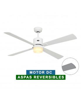 Ventilador de techo con luz CasaFan 92353252 ECO NEO II 132 blanco o gris claro/ blanco