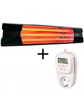 Calefactor de cuarzo por infrarrojo con termostato que regula temperatura