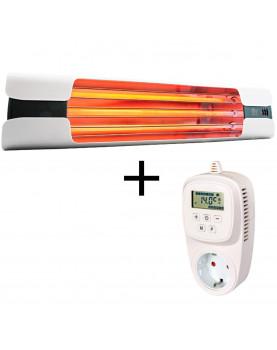 Calefactor por infrarrojo 9005 XTS16 con termostato con cumplimiento de la normativa