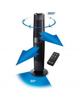 ventilador negro con gran oscilación 360º