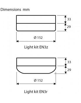esquema de la lámpara para el ventilador de techo