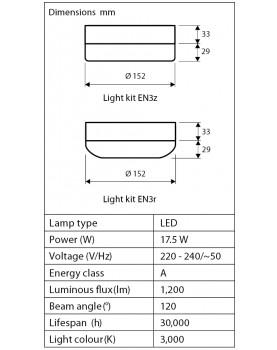 esquema de la luz del ventilador de techo  CasaFan