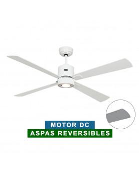 Ventilador de techo con luz CasaFan 92353263 ECO NEO II 132 blanco o gris claro/ blanco