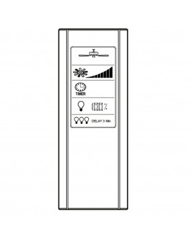 controlador para ventialdores de techo con pantalla táctil