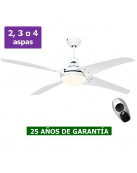 Ventilador blanco de techo con luz CasaFan