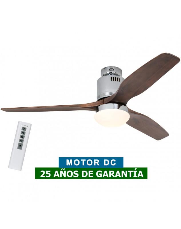 ventilador DC steam con luiz y mando a distancia madera