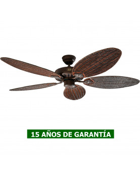 VENTILADOR DE TECHO CASAFAN CON ASPAS DE MIMBRE