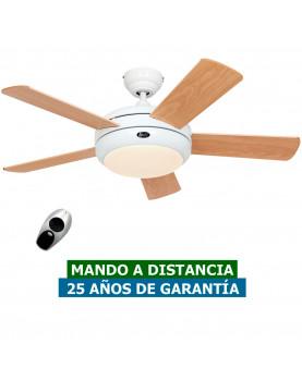 ventilador de techo casafan con luz blanco y garantía
