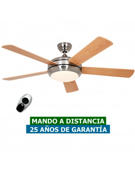 ventilador de techo casafan con 5 aspas luz y mando a distancia