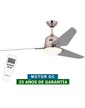 Ventilador de techo con luz CasaFan 513285 ECO AVIATOS DC 132 gris platedo/cromado