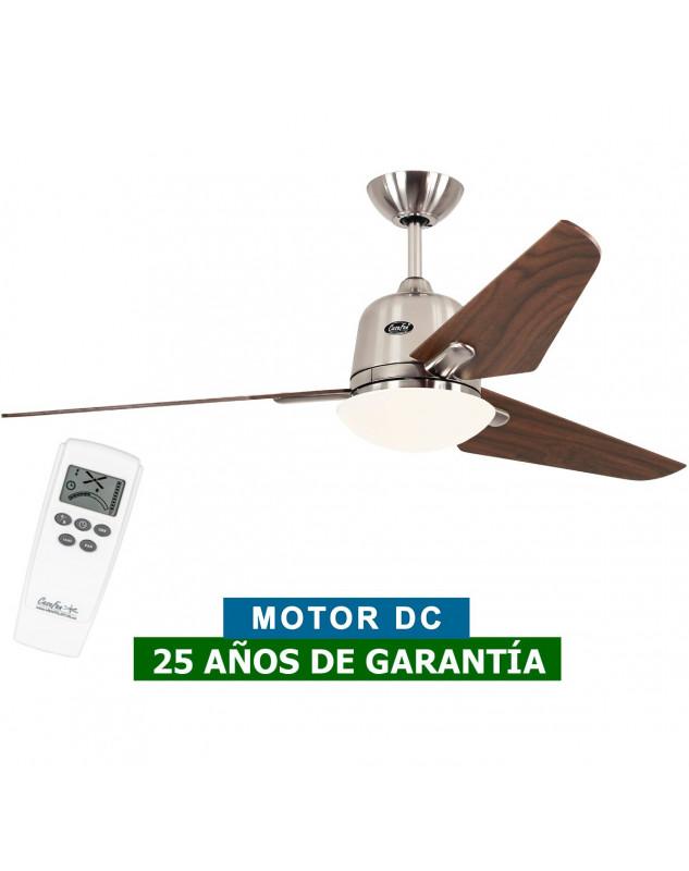 Ventilador de techo con luz CasaFan 513252 ECO AVIATOS 132 DC nogal / cromo satinado