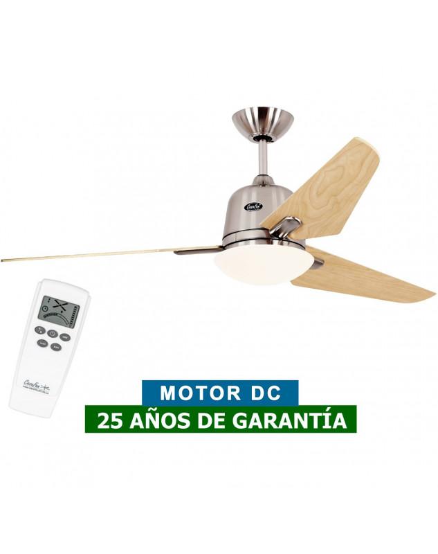 Ventilador de techo con luz CasaFan 513250 ECO AVIATOS 132 Arce / cromo satinado DC