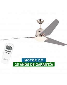 Ventilador de techo con luz CasaFan 516085 ECO AVIATOS 162 plata / cromo satinado BN-SL DC