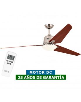 Ventilador de techo con luz CasaFan 516088 ECO AVIATOS 162 cerezo / cromo satinado BN-KI DC