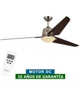Ventilador de techo con luz CasaFan 516089 ECO AVIATOS 162 nuez / cromo satinado BN-NB DC