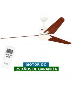 Ventilador de techo con luz CasaFan 516093 ECO AVIATOS 162 cerezo / blanco WE-KI DC