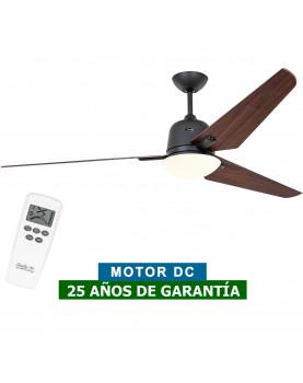 Ventilador de techo con luz CasaFan 516095 ECO AVIATOS 162 nogal/ gris basalto BG-NB DC