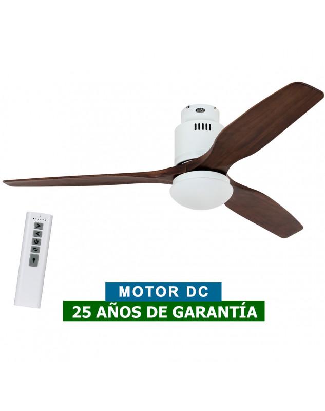 Ventilador de techo con luz CasaFan 93132321 AERODYNAMIX ECO 132 nuez/ blanco