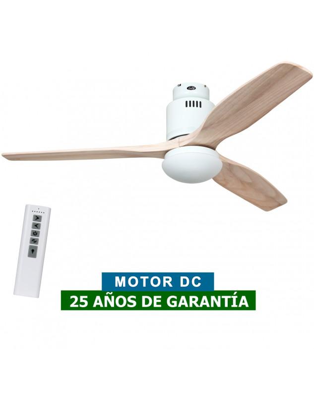 Ventilador de techo con luz CasaFan 93132323 AERODYNAMIX ECO 132 madera natural/ blanco