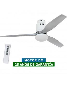 Ventilador de techo con luz CasaFan 93132324 AERODYNAMIX ECO 132 plateado/ blanco