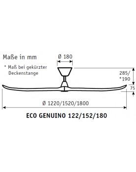 esquema del ventilador de techo CasaFan ECO GENUINO