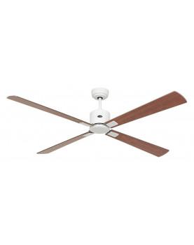 ventilador de techo con motor blanco y aspas madera motor DC