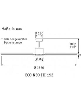 esquema del ventialdor de techo eco neo III
