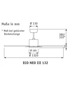 esquema del ventilador de techo eco neo