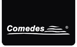 Logotipo de la empresa de ventiladores para el techo Comedes