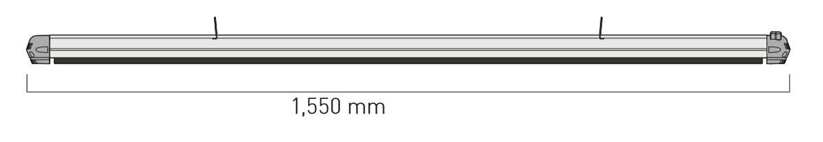 Dimensiones del calefactor para exteriores CasaFan 9824