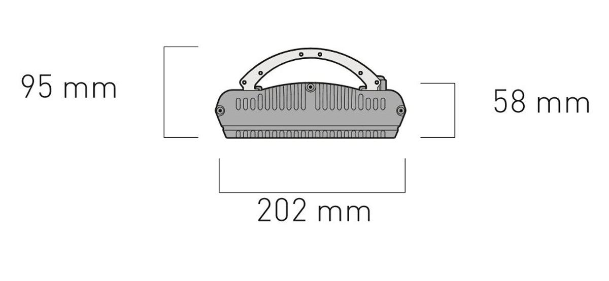 Dimensiones del calefactor para exteriores CasaFan 98154