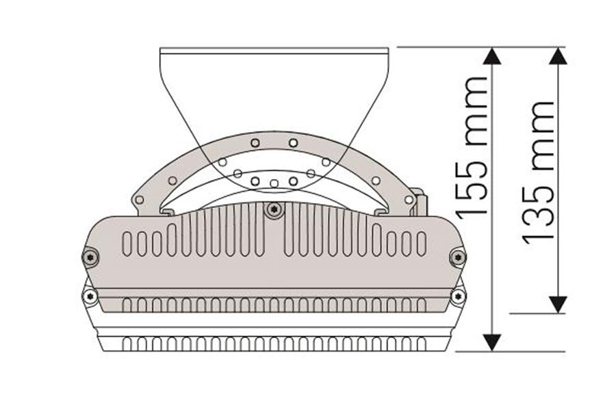 Dimensiones del calefactor para exteriores CasaFan 9818