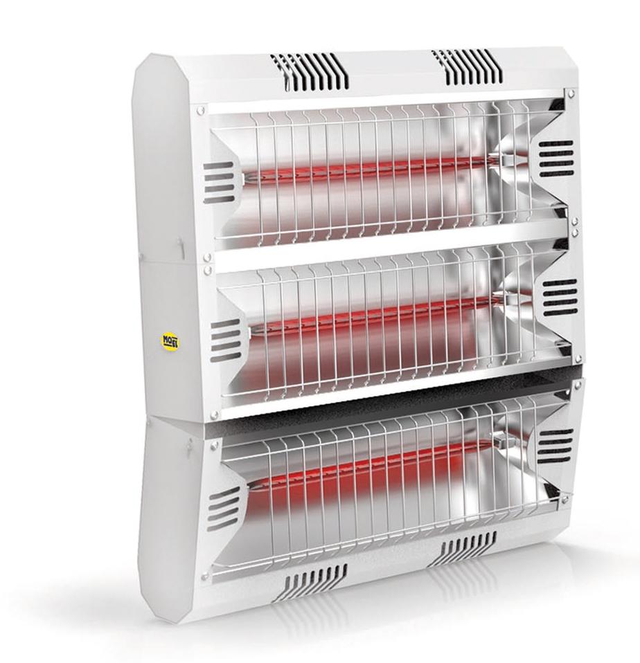 Calefactor halógeno por infrarrojo  Mo-El 793LGW Hathor IP55