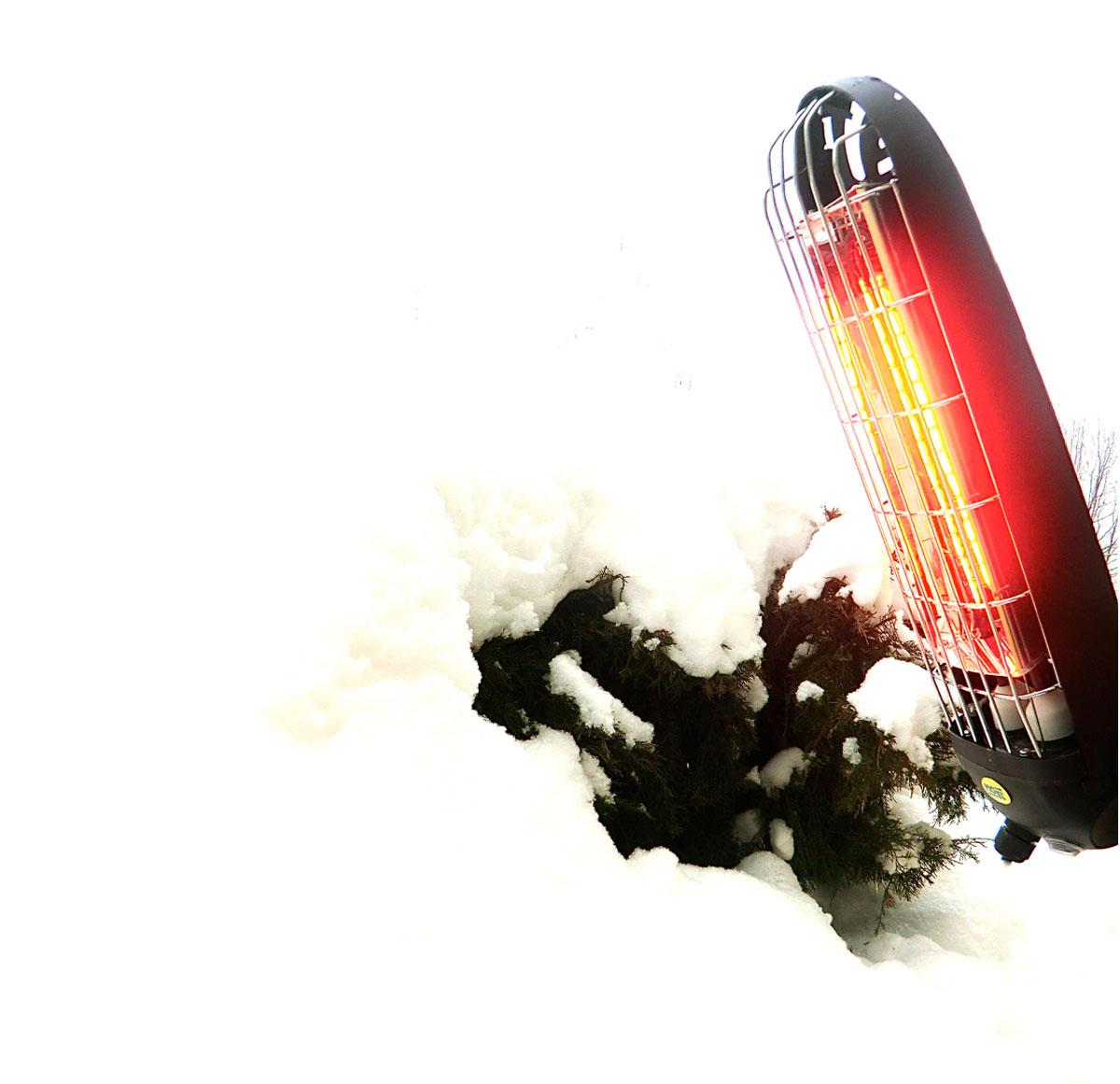 Calefactor halógeno por infrarrojo Mo-El 797 Lucciola 1200