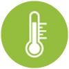 Tiempo de calentamiento del calefactor Mo-El FIORE 1800