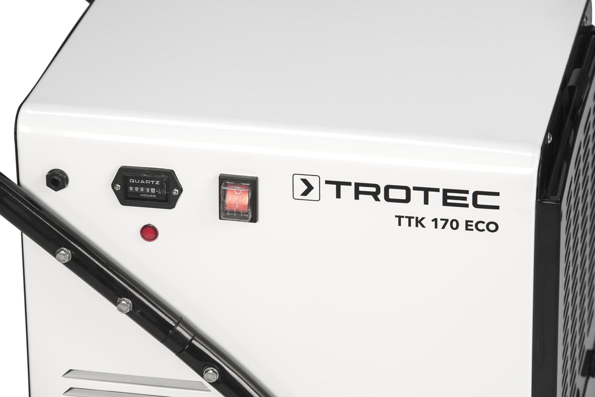Panel del deshumidificador trotec TTK 170 ECO